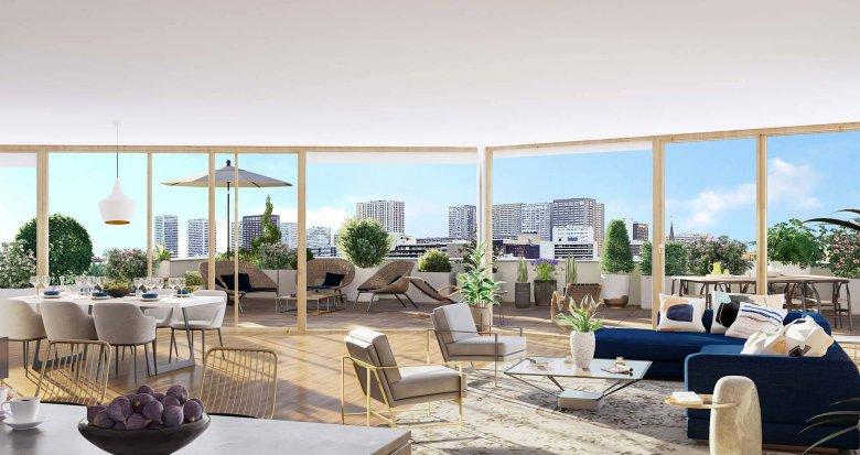 Achat / Vente programme immobilier neuf Paris 13 proche bibliothèque François Mitterrand (75013) - Réf. 6176
