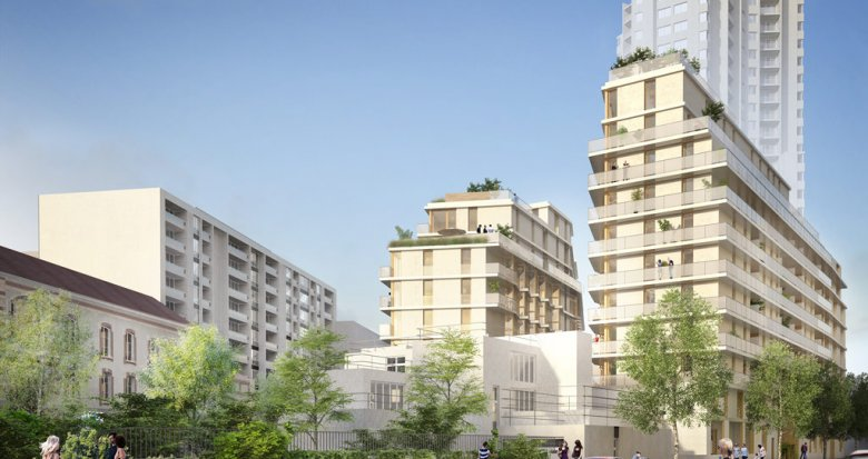 Achat / Vente programme immobilier neuf Paris 19 proche tramway Rosa Parks (75019) - Réf. 1667